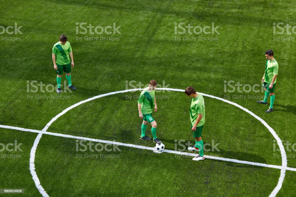 Thq legs of soccer football player stock photo