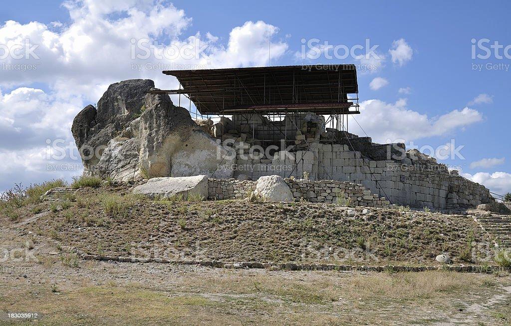 Thracian sanctuary near the Tatul village, Bulgaria stock photo