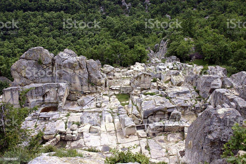 Thracian Town Perperikon I Views from Bulgaria stock photo
