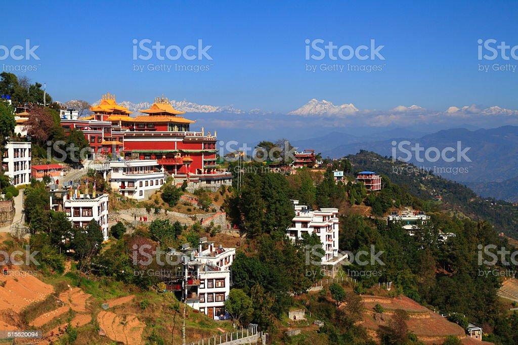 Thrangu Tashi Yangtse Moastery stock photo