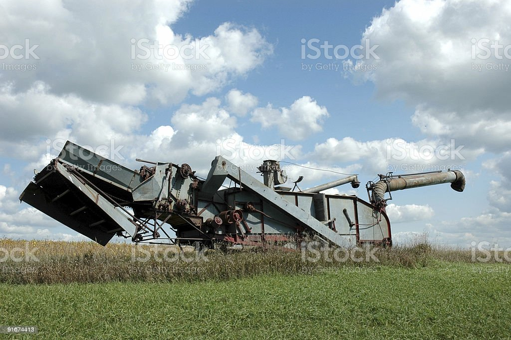 Thrashing Machine stock photo