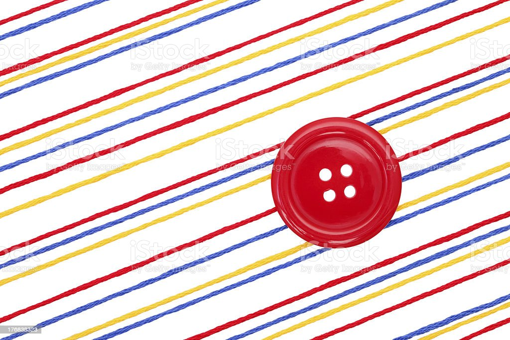 Thread and button royalty-free stock photo