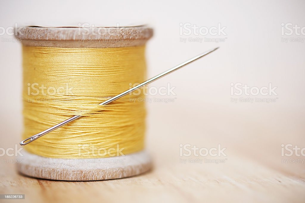Thread and Needle royalty-free stock photo