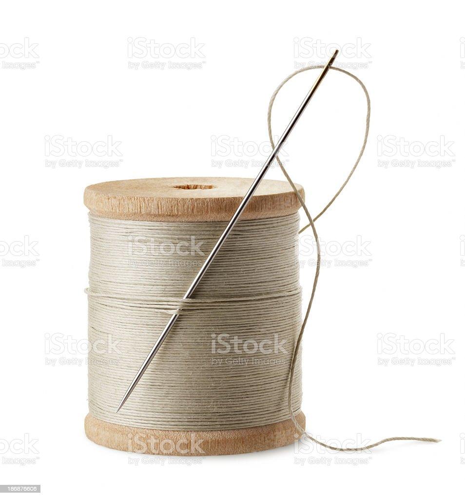 thread and needle stock photo