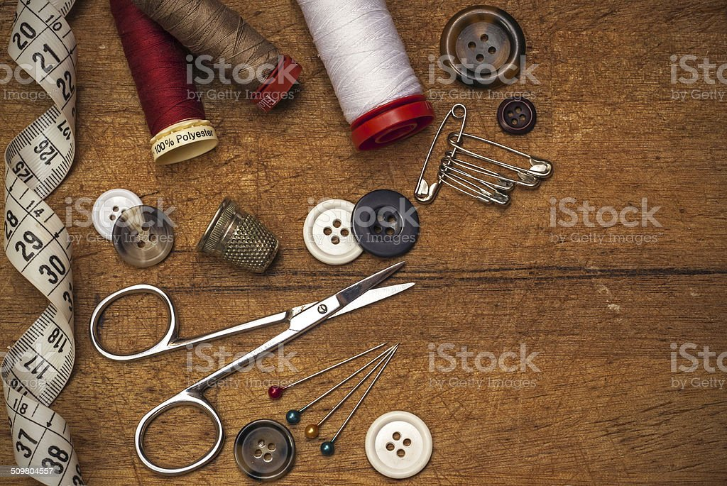 thread and sewing stock photo