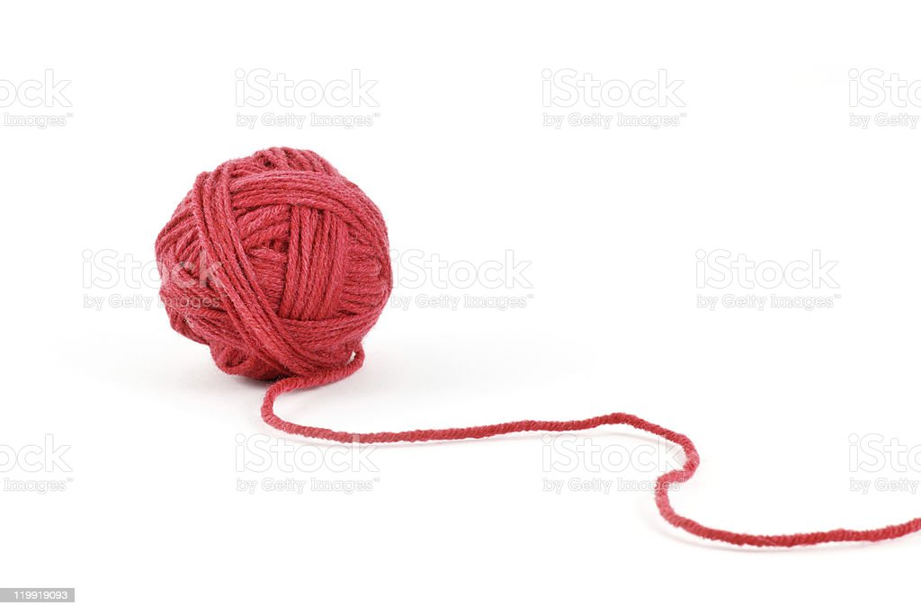 Thread ball stock photo