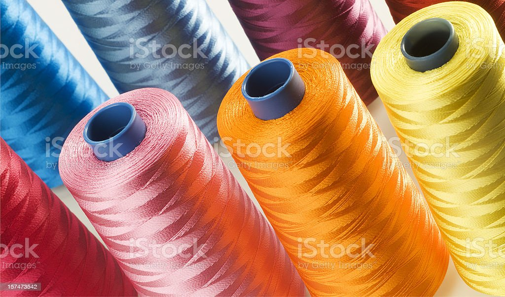 Thread bobbins stock photo