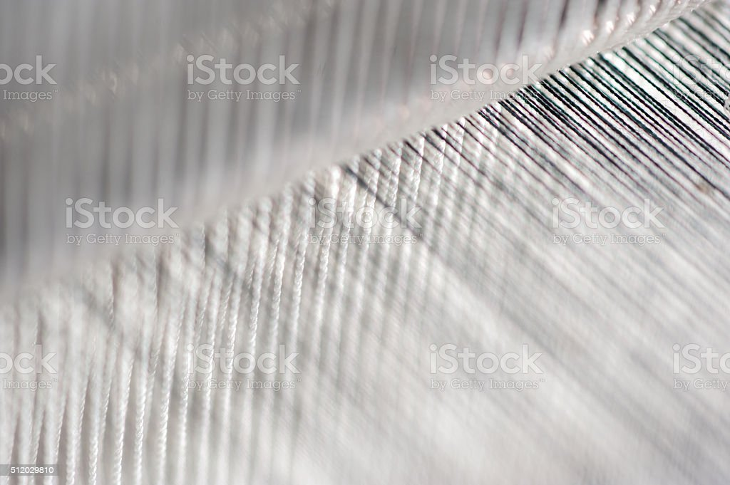 Thread from weaving machine. stock photo