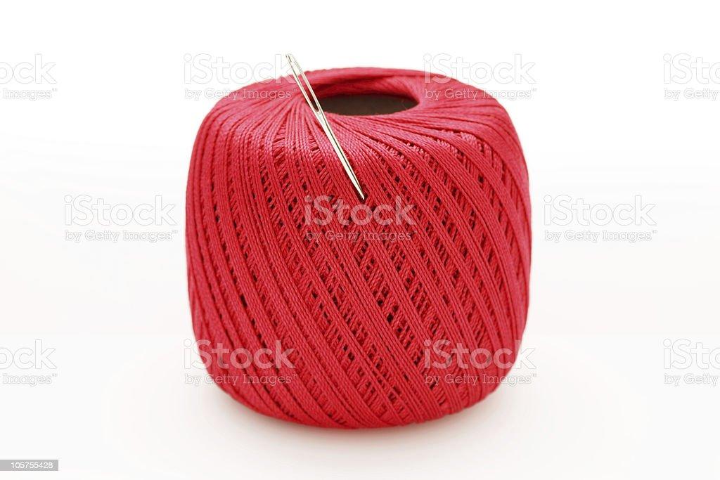 Thread in needle royalty-free stock photo