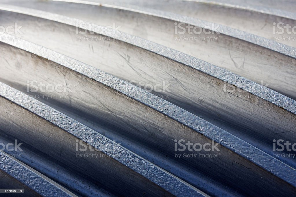 Thread on metal of a cogwheel close up royalty-free stock photo