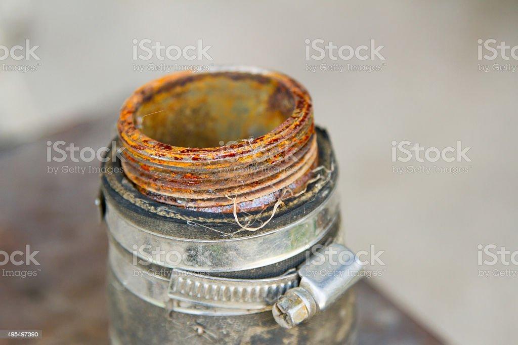 thread on the tube stock photo