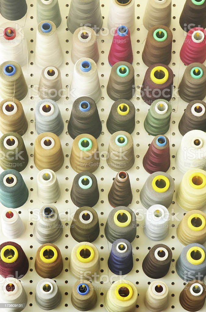 Thread Spool Tailor Shop Pegboard royalty-free stock photo
