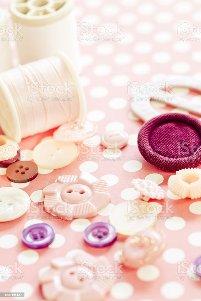 Thread Spools And Buttons royalty-free stock photo