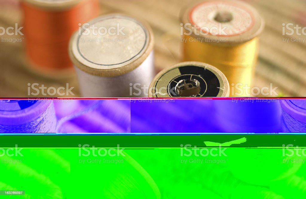 Thread Spools royalty-free stock photo