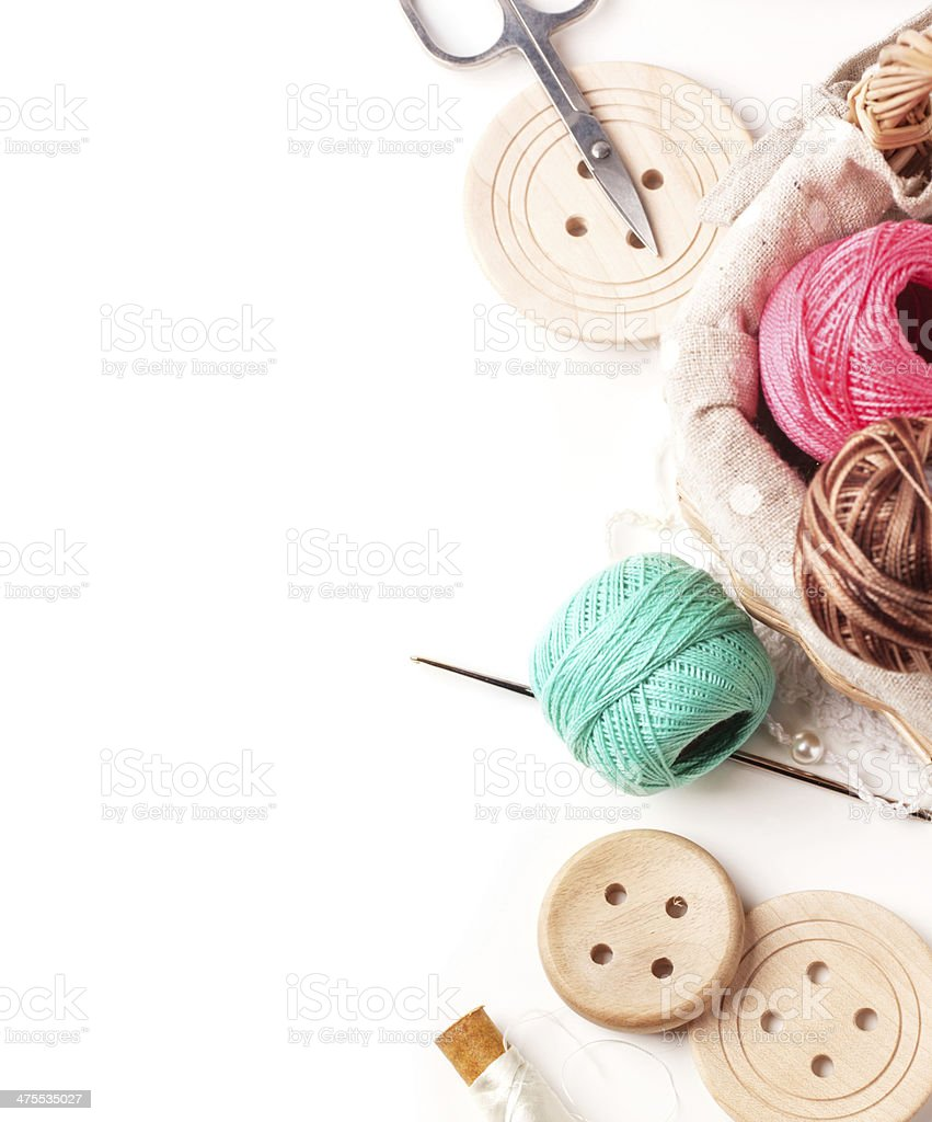Threads and buttons stock photo