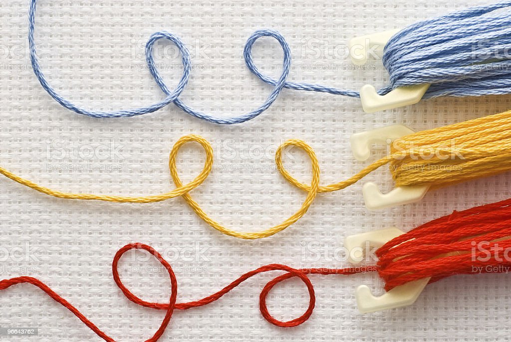 Threads for embroidery royalty-free stock photo