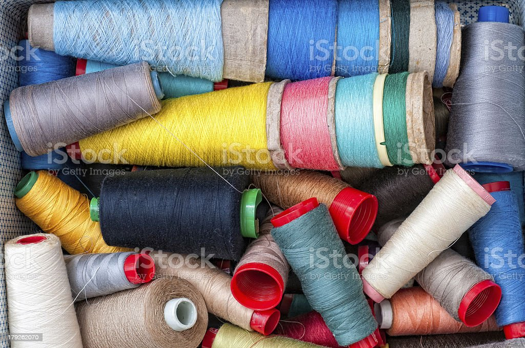 Threads for sewing royalty-free stock photo