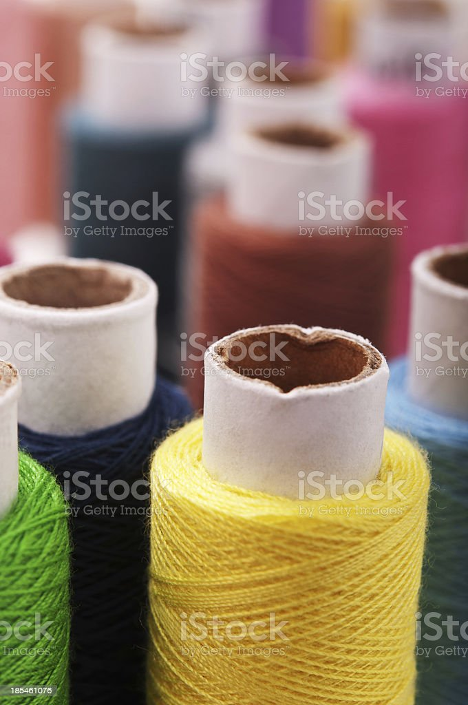 threads multicolored royalty-free stock photo