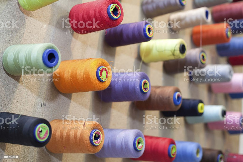 threads on the wall royalty-free stock photo