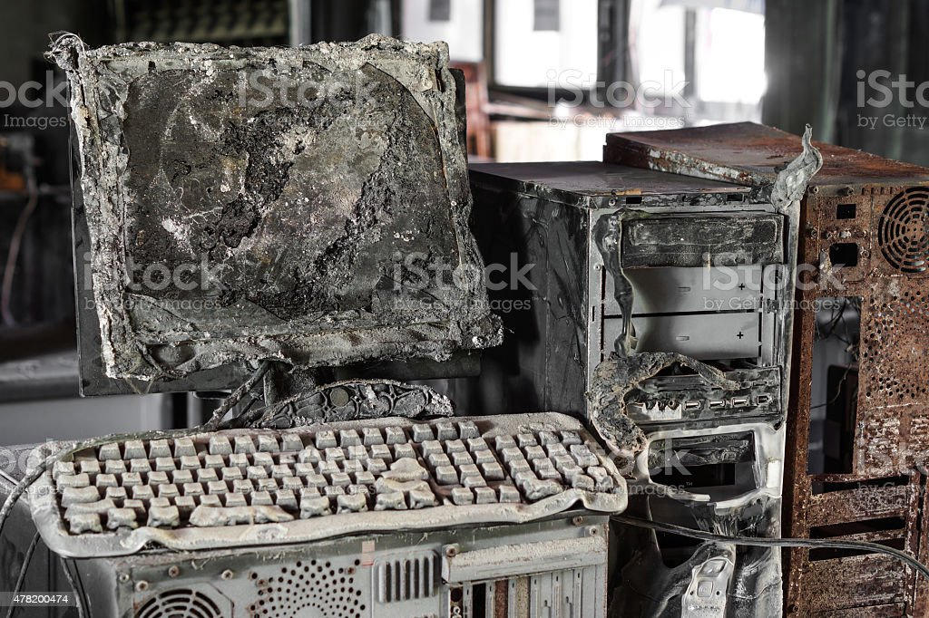 Threat to computer hardware stock photo