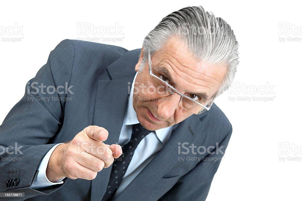 Threatening boss. royalty-free stock photo