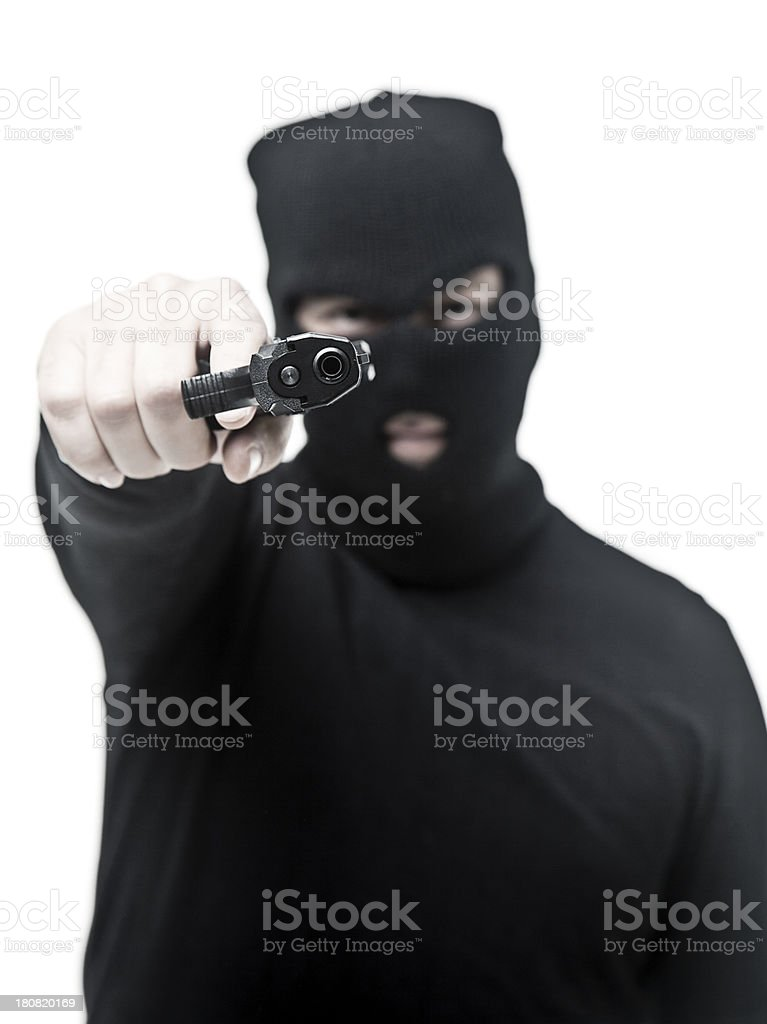 Threatening burglar royalty-free stock photo