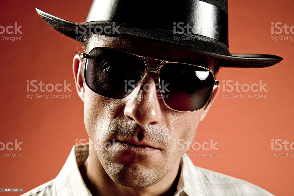 threatening cool guy royalty-free stock photo