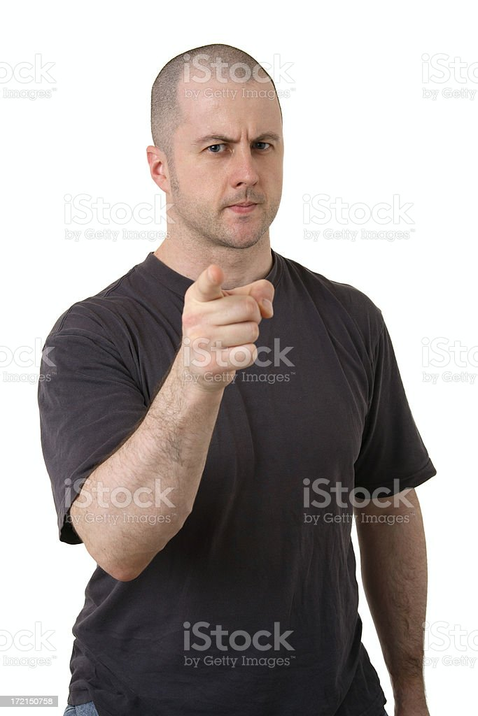Threatening stock photo