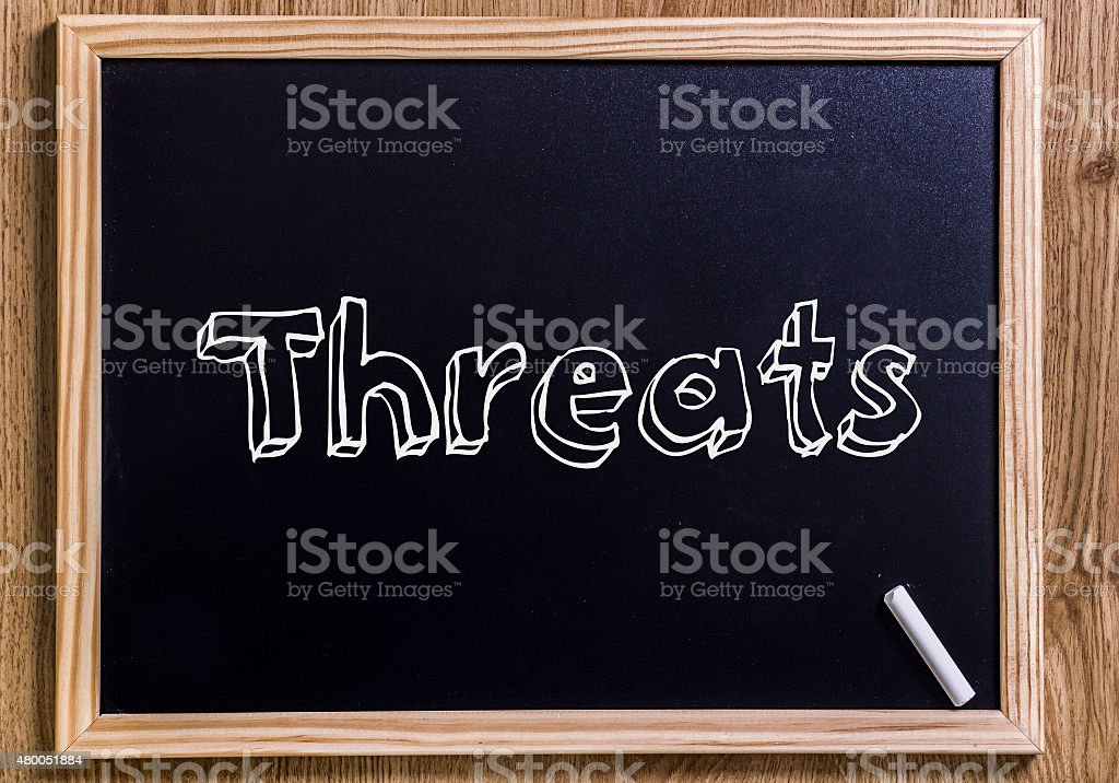 Threats stock photo