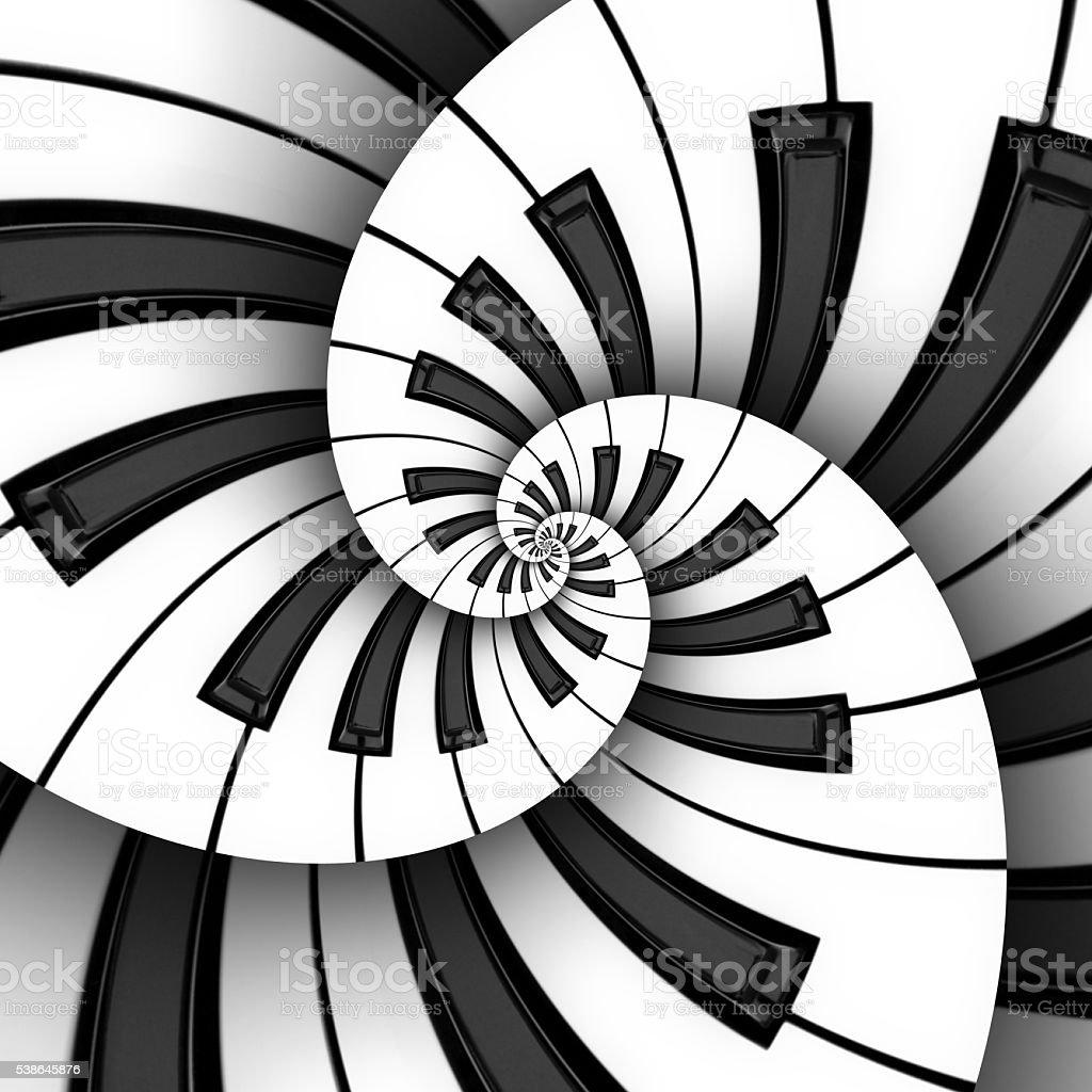 Three 3D Keyboard Spirals stock photo