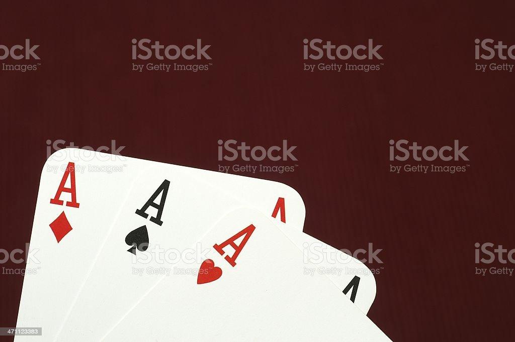 Three Aces royalty-free stock photo