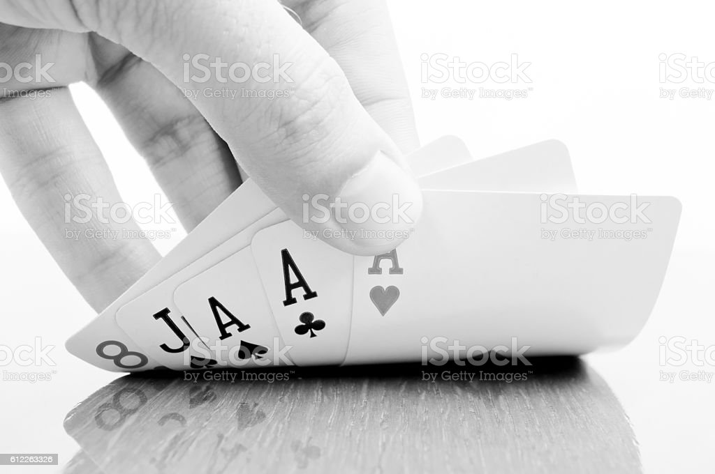 Three Aces stock photo