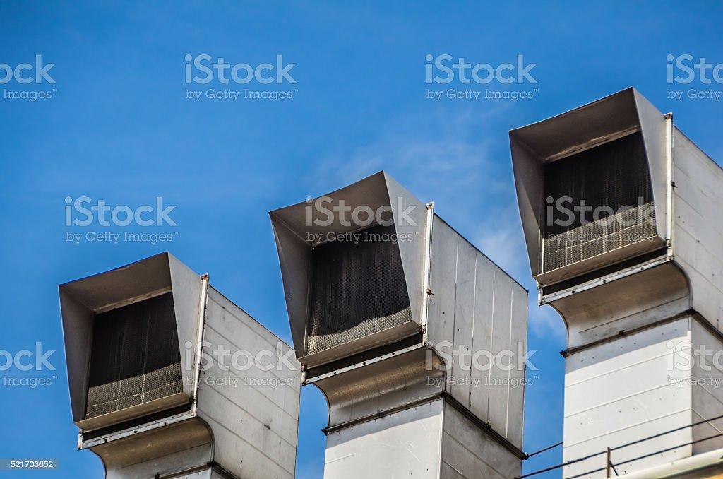 Three Air Intakes stock photo