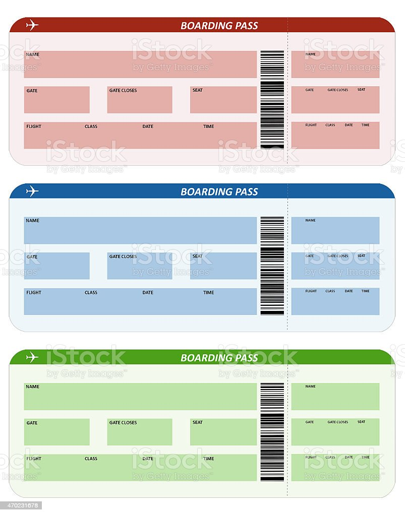 Three airline tickets stock photo