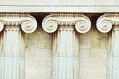 Three antique columns