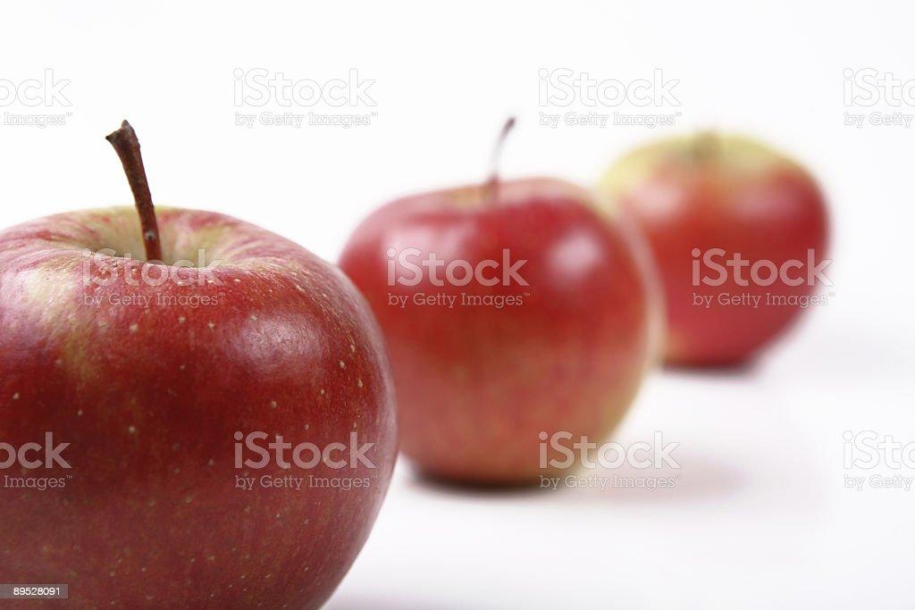 three apples 3 royalty-free stock photo
