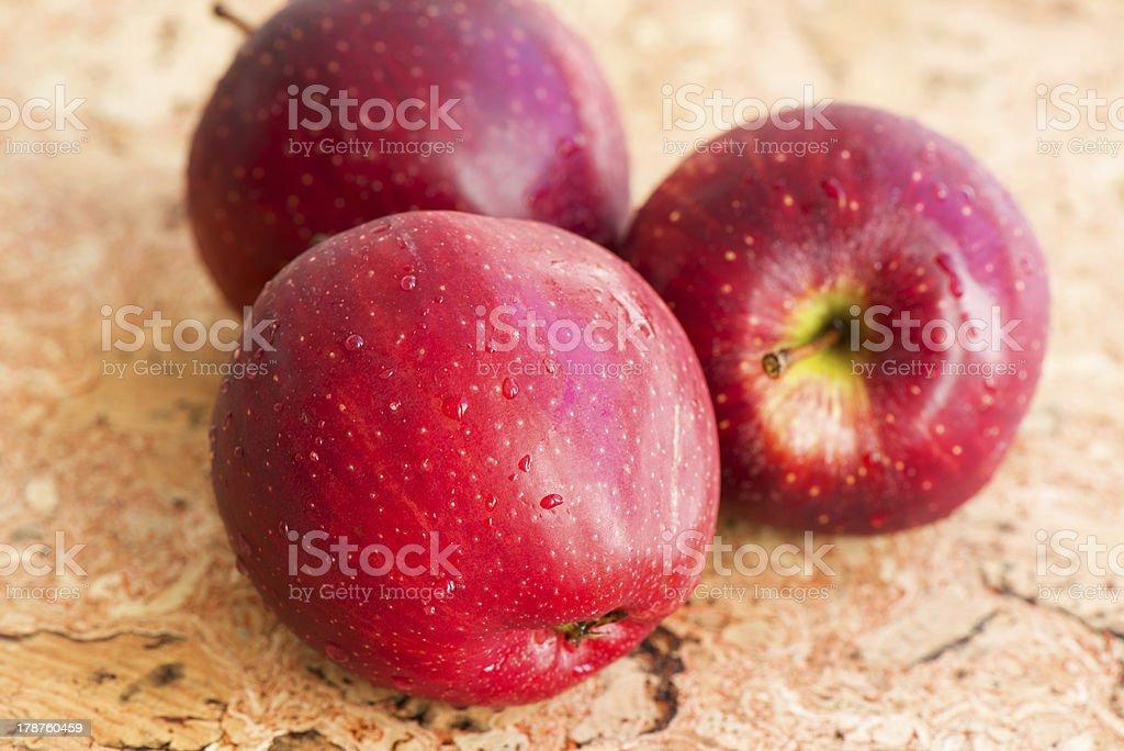 Three apples close up royalty-free stock photo