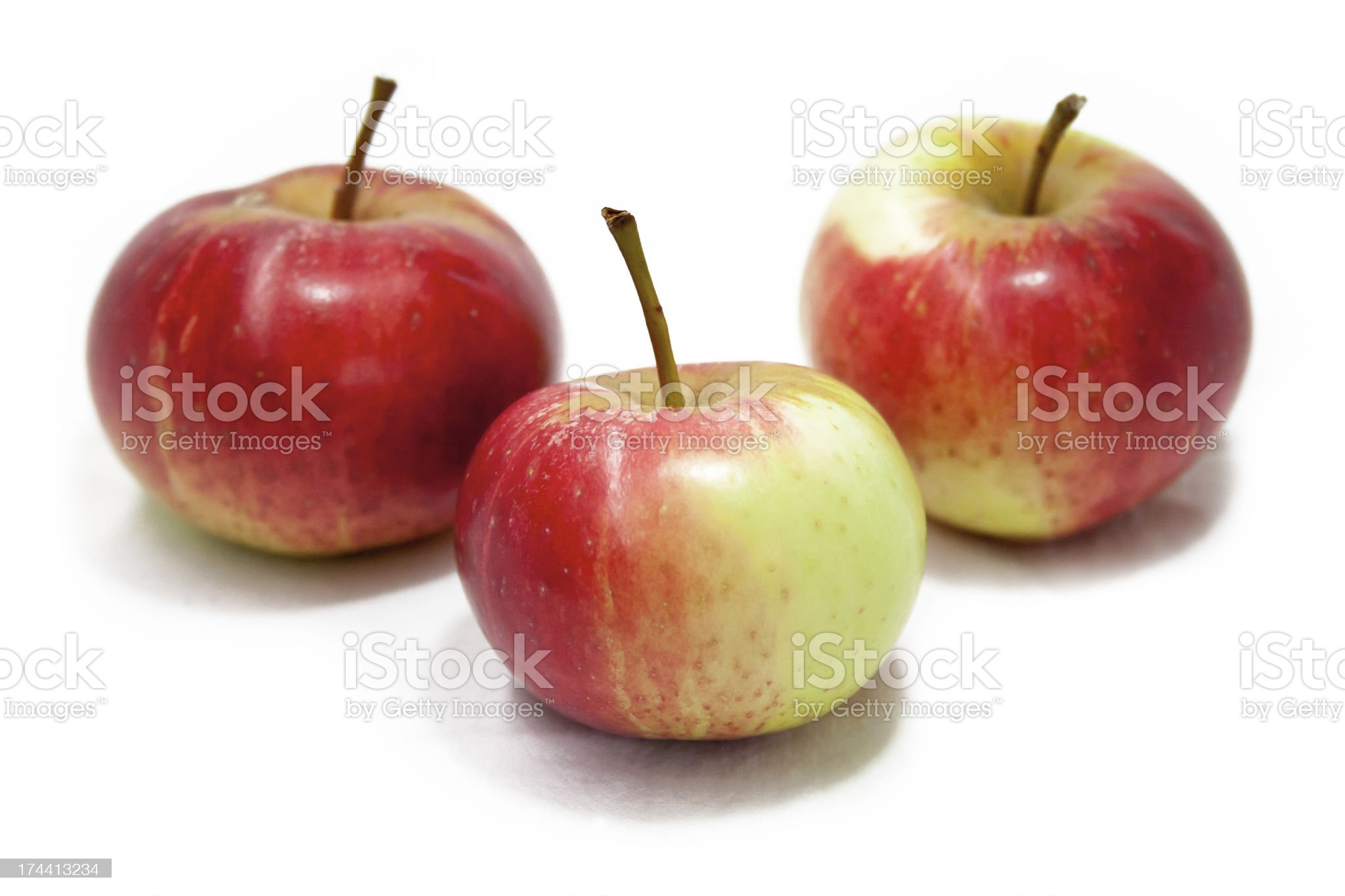 Three Apples royalty-free stock photo