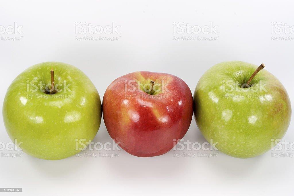 Three apples royalty-free stock photo