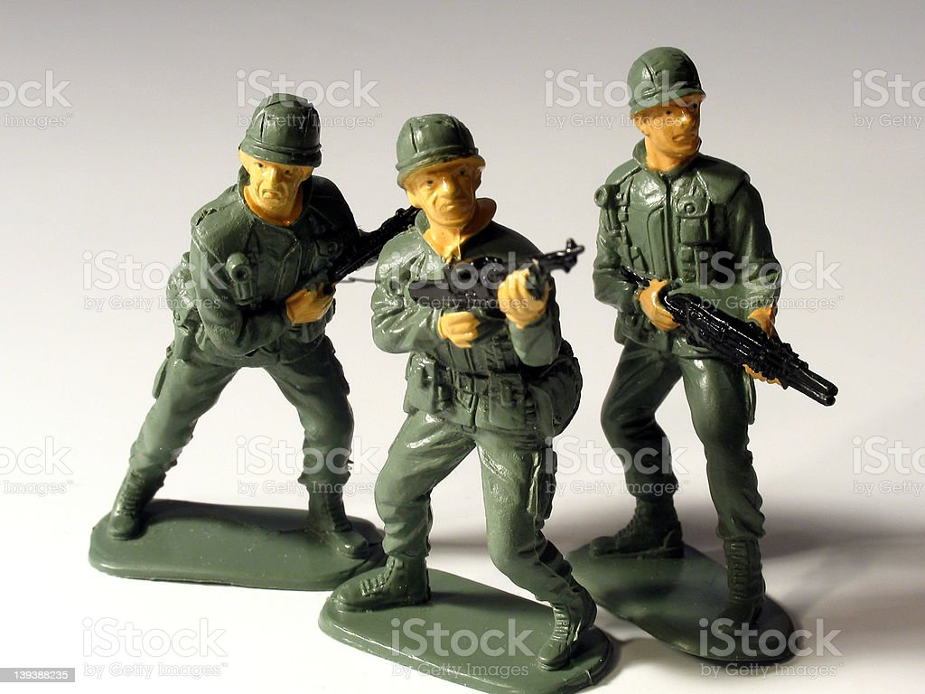 Three Army Soldiers royalty-free stock photo