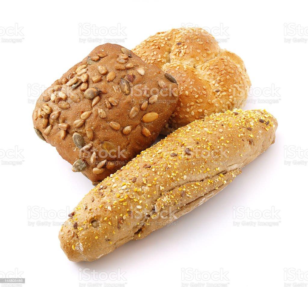 Three baked goods available at a bakery royalty-free stock photo