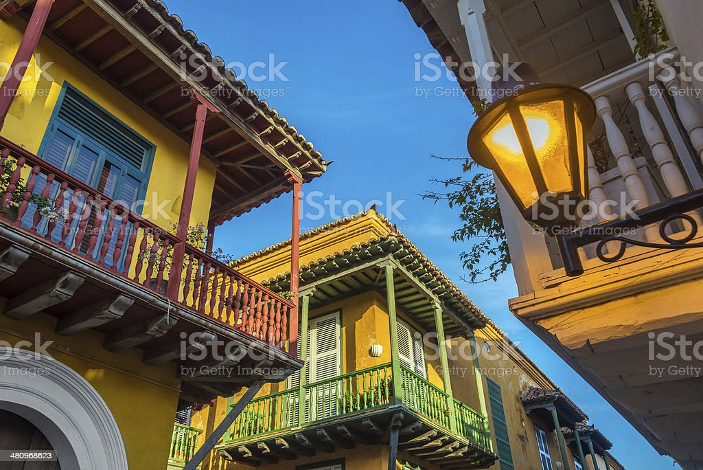 Three Balconies stock photo