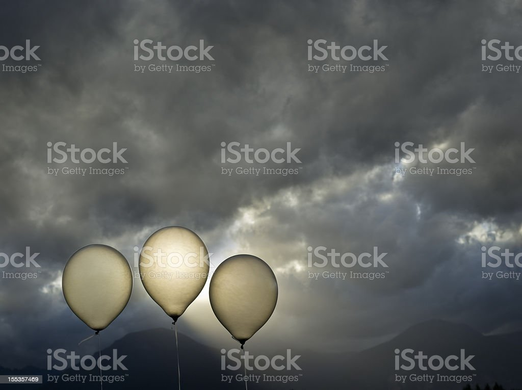 Three Balloons stock photo