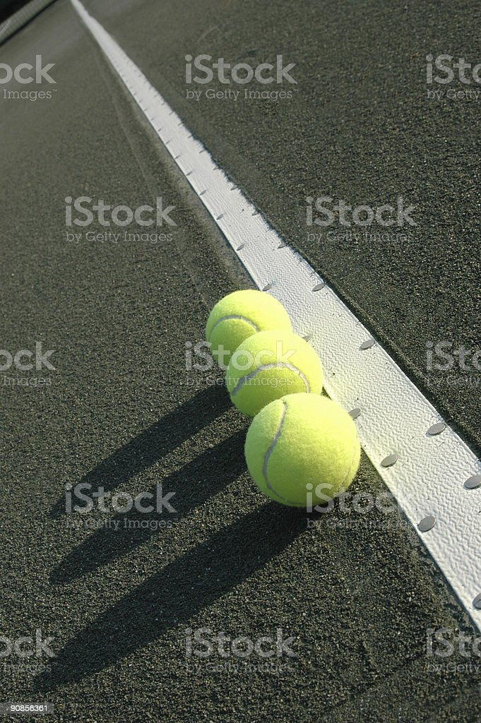 three balls down the line stock photo