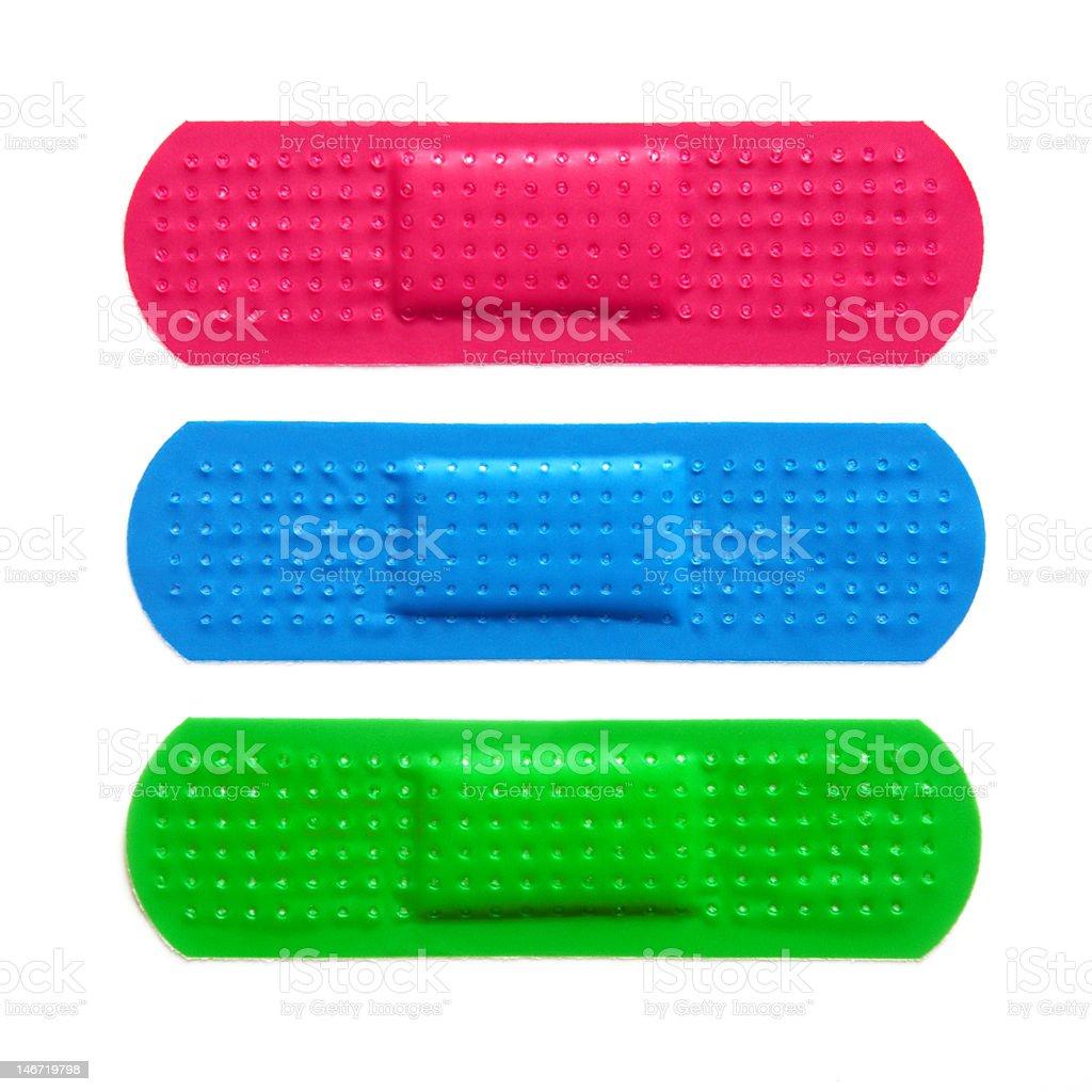 Three Bandages stock photo