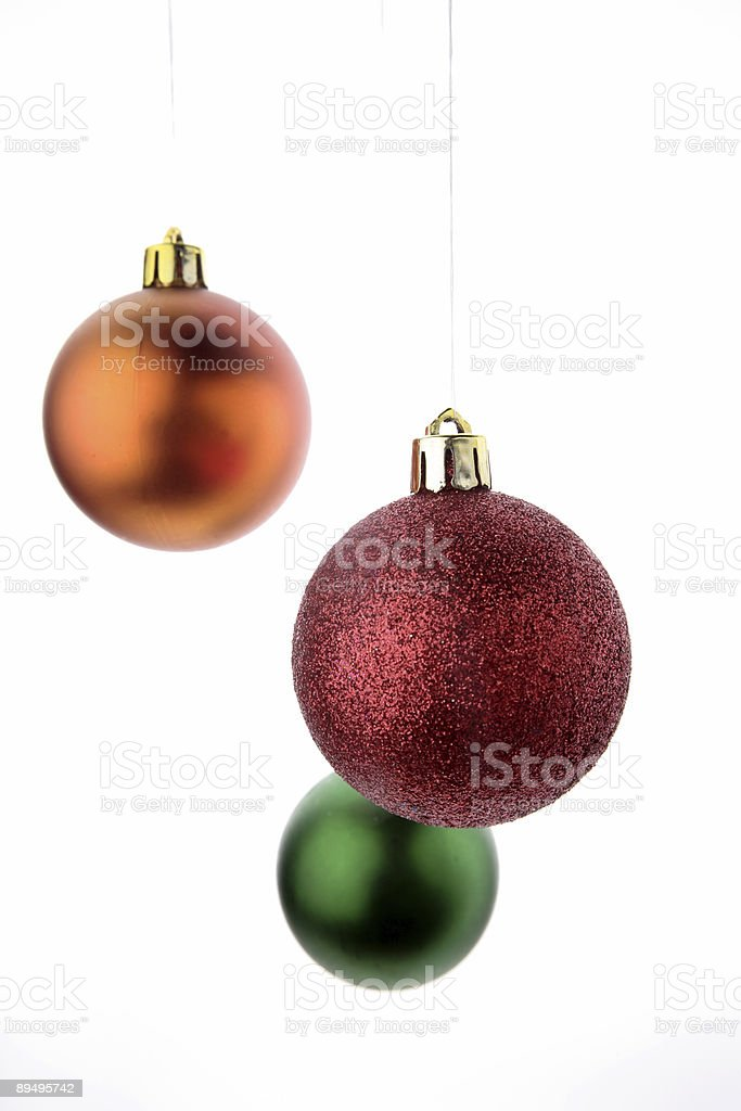 Three baubles royalty-free stock photo