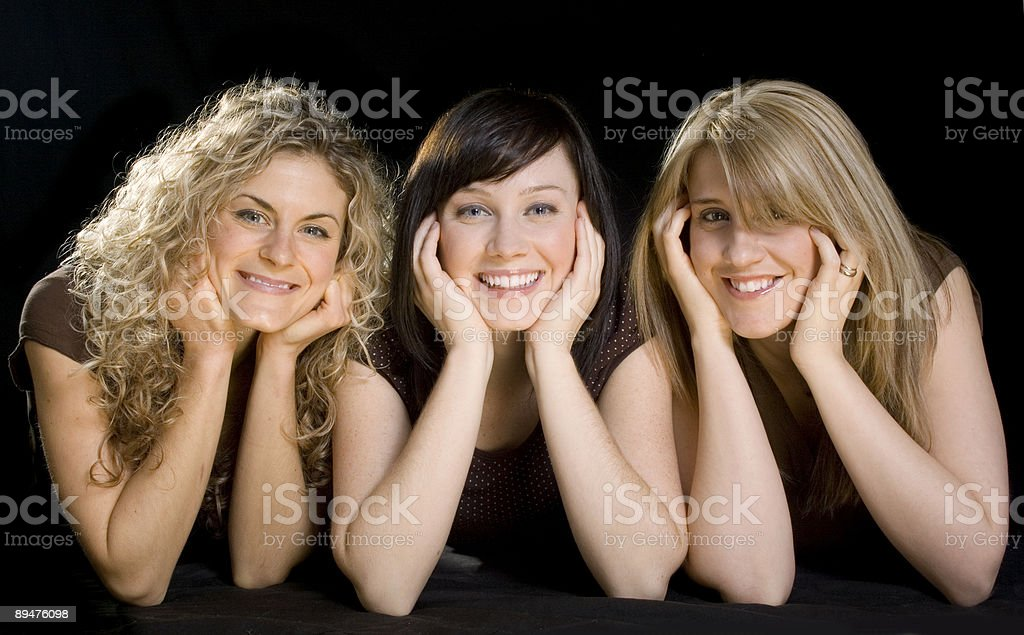 Three beauties royalty-free stock photo