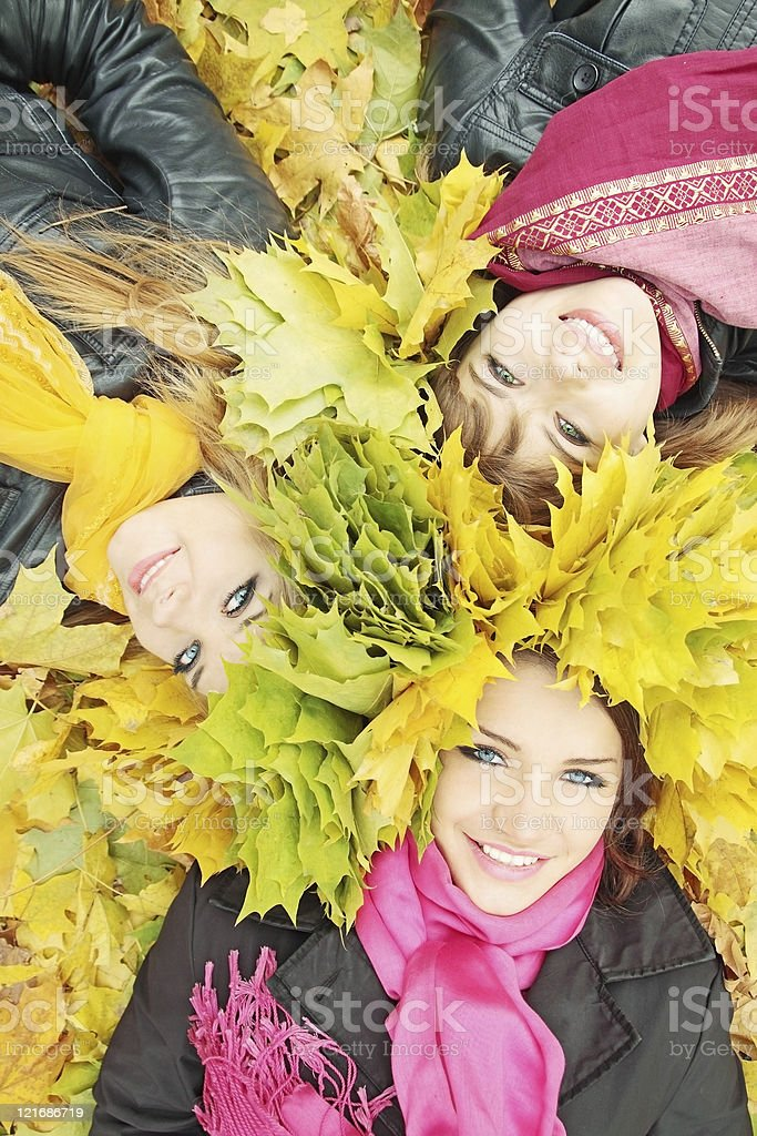 Three beautiful girls royalty-free stock photo