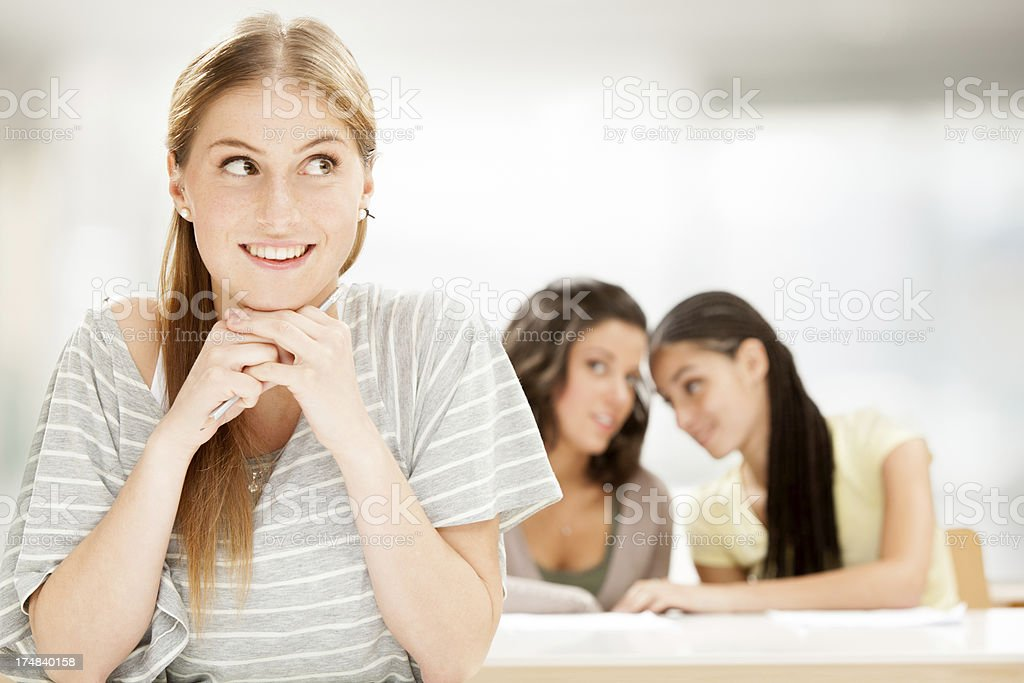 Three beautiful young friends portrait royalty-free stock photo