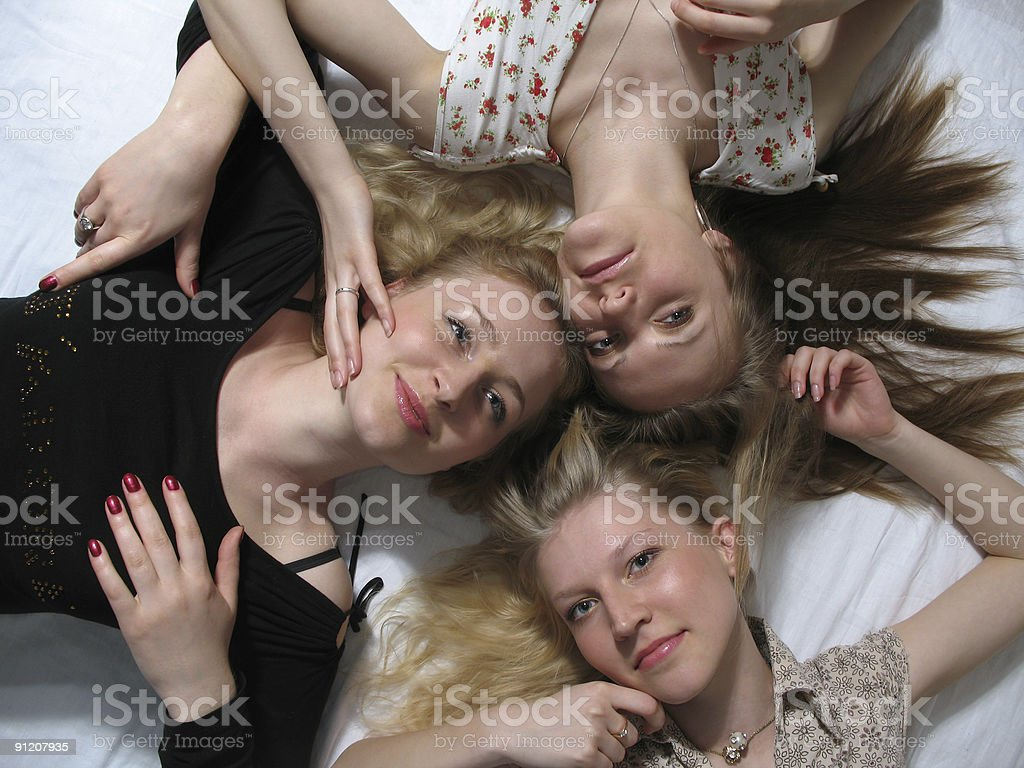 Three beautiful young girls royalty-free stock photo